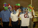 Students created African masks