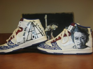 Rock and Roll Hall of Fame shoe, designed by Kiara Brown