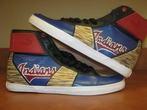 Cleveland Indians shoe, designed by Shanna Hurst